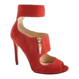Enzo Angiolini Nyambi Red Suede Shoes - SIZE 5